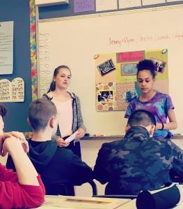 Student presentation, Ecole Maillard Middle School
