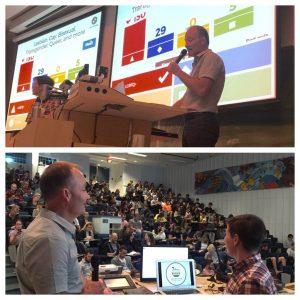 Steve Mulligan and Hélène Frohard-Dourlent present to UBC teacher candidates