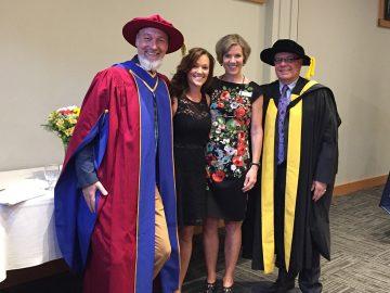 Dr. Leyton Schnellert, Sarah Stoochnoff – Margaret Cameron Scholarship, Dr. Wendy Carr, Dean Frank